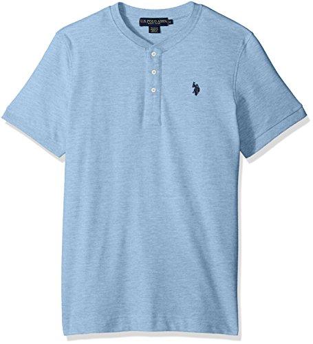 U.S. Polo Assn. Mens Short Sleeve Henley Solid T-Shirt