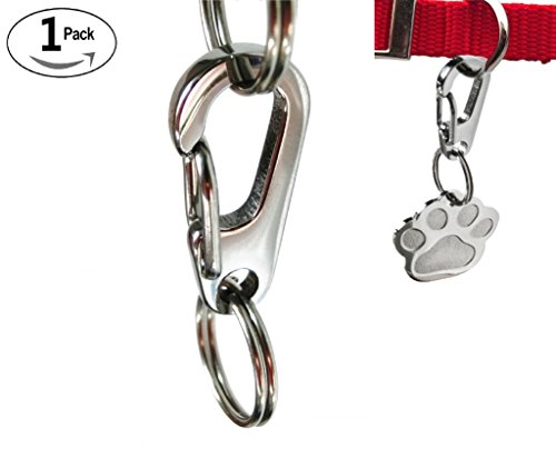 Sundesign Stainless Steel Dog Tag Quick Clips (1Pack)