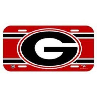 12' Car Georgia Bulldogs Bulldog (WinCraft Georgia Bulldogs Plastic License Plate)