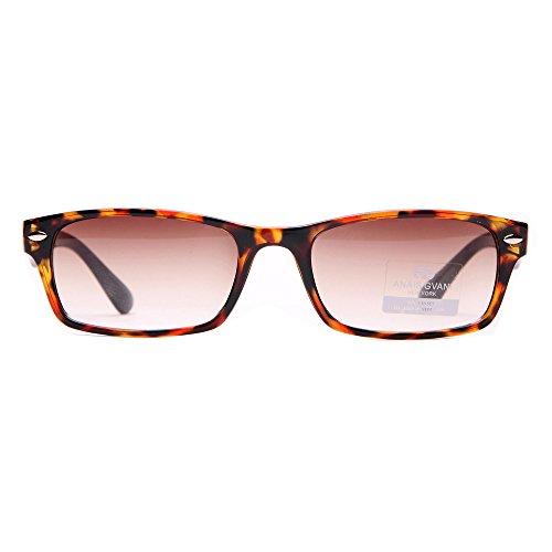 MKY Classic Small Rectangular Sunglasses Narrow - Lens Logo With Sunglasses