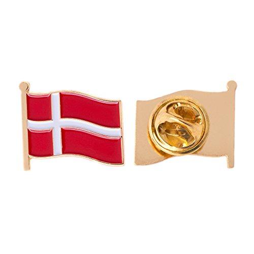 Denmark Country Flag Lapel Pin Enamel Made of Metal Souvenir Hat Men Women Patriotic Danish (Waving Flag Lapel Pin)