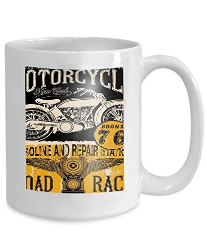 - mug coffee tea cup motorcycle label design custom chop chopper fashion style 110z