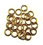 SNAPEEZ® ''The Snapping Jump Ring'' - SNAPEEZ® ''The Snapping Jump Ring'' - SNAPEEZ® II ULTRAPLATE® 24 kt. Gold Ring Hard Open Jump 10mm Heavy Gauge (PK 25)