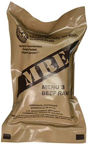 - Beef Ravioli MRE Meal - Genuine US Military Surplus Inspection Date 2020 and Up
