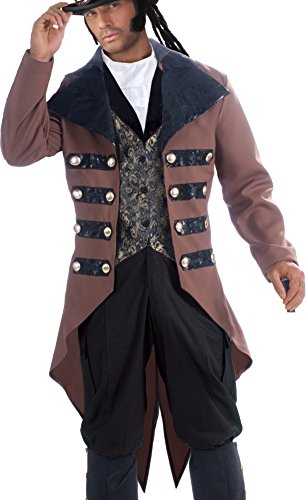 Gentleman Halloween Costumes (Adult's Mens Steampunk Jack Gentleman Costume Plus Size X-Large 44-48)