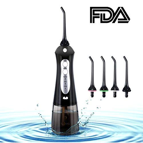 Water Flosser, Beautlinks Cordless Dental Oral Irrigator with 4 Jet Tips IPX7 Waterproof 3 Modes Professional Rechargeable Portable