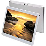 KuBi 10 Inch Tablet Pc Android 7.0 1280x800 IPS Tablets PC Octa Core RAM 4GB ROM 64GB 8MP 3G Dual sim Card Phone Call GPS 7 9 (Silver)