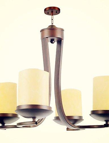DXZMBDM® 5 Traditionell-Klassisch / Retro Ministil Korrektur Artikel Metall Kronleuchter Wohnzimmer / Schlafzimmer / Esszimmer , white-90-240v