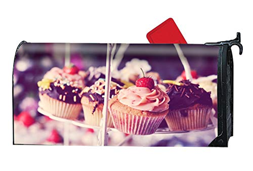 MALBX Cupcake Cake Strawberry Cream Chocolate Halloween Kitten Magnetic Mailbox Cover O'Lantern Holiday -