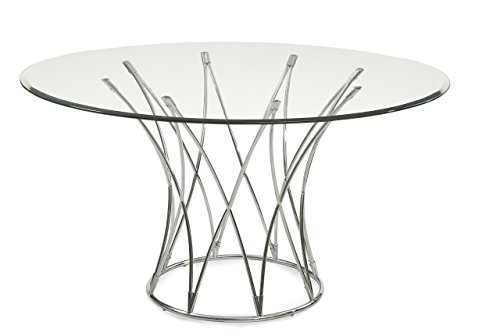 Bassett Mirror Mercer Dining Table, Chrome by Bassett Mirror Company