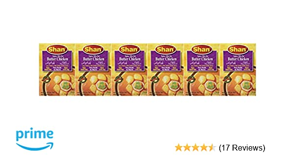 Amazon.com : Shan Butter Chicken Mix - 50 Gms X 6 Pcs : Gourmet Food : Grocery & Gourmet Food