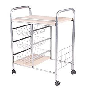 Handi Craft Kitchen Cart With 3 Basket Drawers And Wheels Kitchen Islands Carts