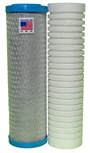 Replacement Cartridge Set for Watts-Premier WP-2 LCV Under Counter Filtration
