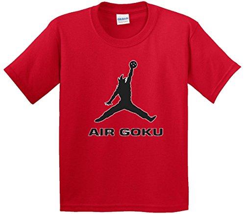 New Way 629 - Youth T-Shirt Air Goku DBZ Dragon Ball Z Jordan Parody Medium Red
