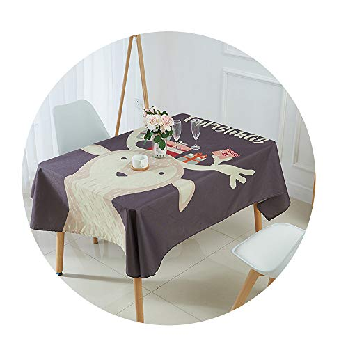 COOCOl Great Tablecloth for Table Christmas Tablecloth Elk