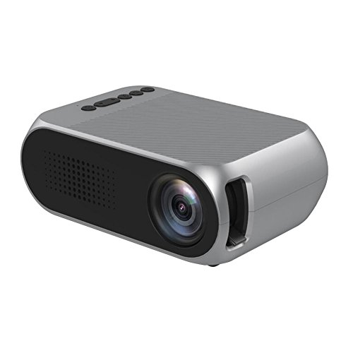 Alloet YG320 Led Projector 1080P Manual Focus Home Theater Beamer (Grey/US) by alloet