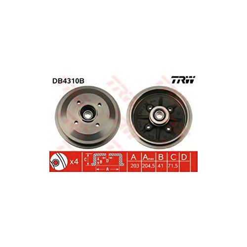TRW DB4310B Brake Drums: