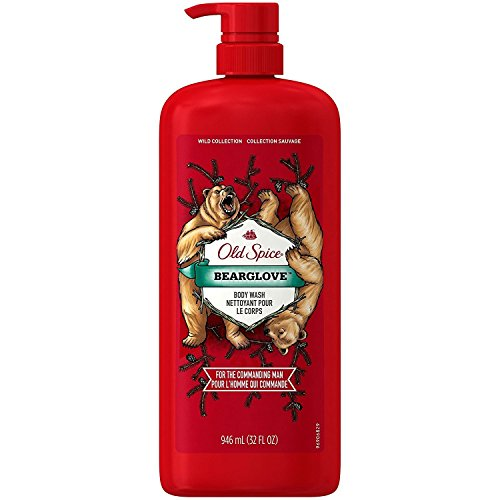 Old Spice Bearglove Body Wash - Convenient Pump Bottle - 32 Fluid (Gel 32 Oz Pump Bottle)