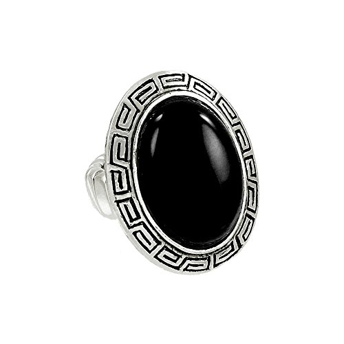 one One Size Stretch Ring Black Onyx (Black Jasper Ring)