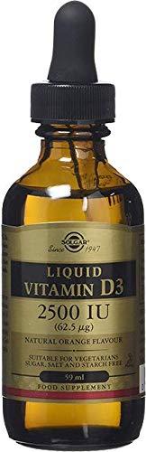 Liquid Vitamin D3 (Cholecalciferol) 125 mcg (5,000 IU) - Natural Orange Flavor - 2 Ounces (Solgar Liquid Vitamin D3)