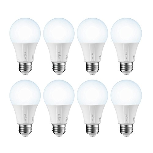 Sengled E11-G14 Smart LED Daylight A19 Bulb, Hub Required, 5000K 60W Equivalent Works with Alexa, Google Assistant & SmartThings 8 Pack