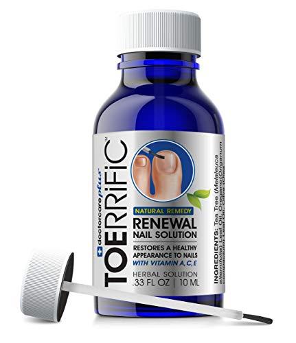 Natural Toenail Fungus Treatment - All Natural Anti fungal Nail & Toe Nail Renewal with Tea Tree, Oregano & Essential Oils, Restore Damaged Yellow Thick Discolored Nails Back to Health by Toerrific