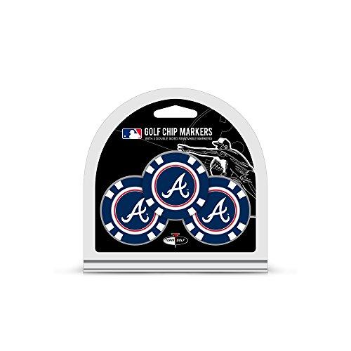 MLB Atlanta Braves 3 Pack Golf Chip Ball Markers