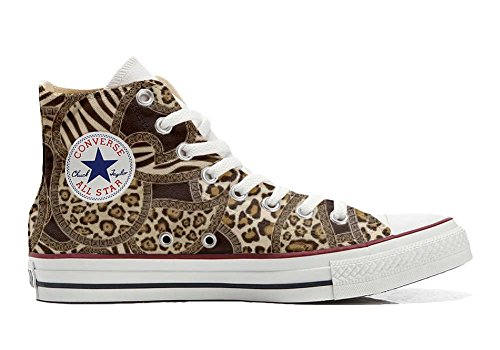 Jungle All Schuhe personalisierte Customized Star Schuhe Handwerk Converse Hi SRwqHdxq8