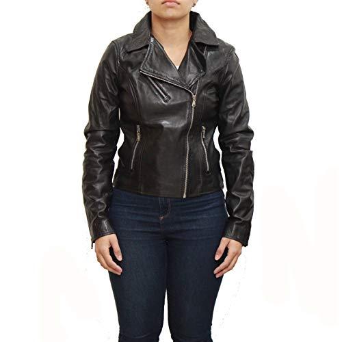 Noir Femmes Courte À Pour Noire Veste La Taille De Avec Motard Ajustement wgqRPn6XA