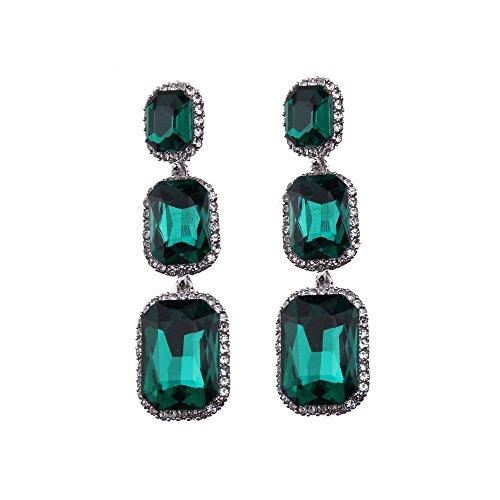Fashion Crystal Rhinestone Wedding Hypoallergenic Drop Stud Earrings for Women ()