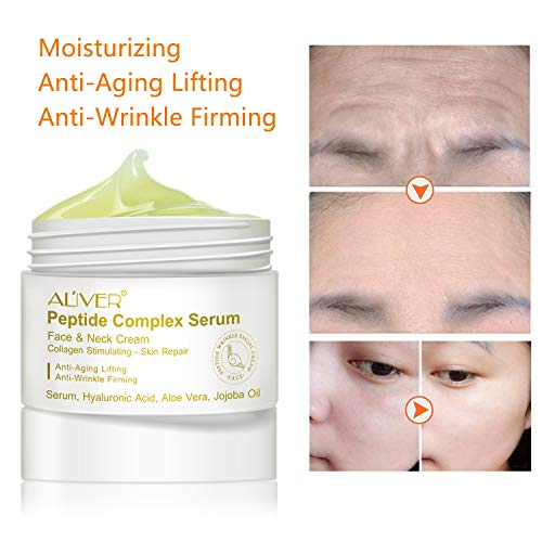 41m71aqk5SL - Peptide Wrinkle Cream,Anti-Wrinkle Cream,Anti aging serum,Collagen Peptides For Skin and Neck Moisturizer Cream Firming,Fights the Appearance of Wrinkles, Fine Lines,Best Day and Night