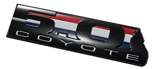 5.0 Liter Ford Coyote V8 Engine Emblem in Black Red White & Blue - 5.5