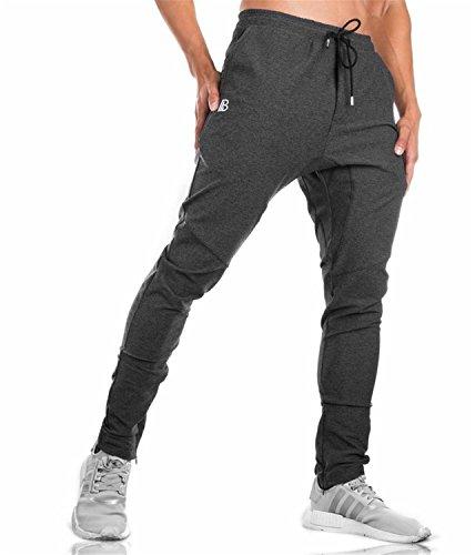 Sweatpants Solid Fashion high Street Trousers Pants Men Joggers Oversize Brand Gyms Pants Dark Grey M