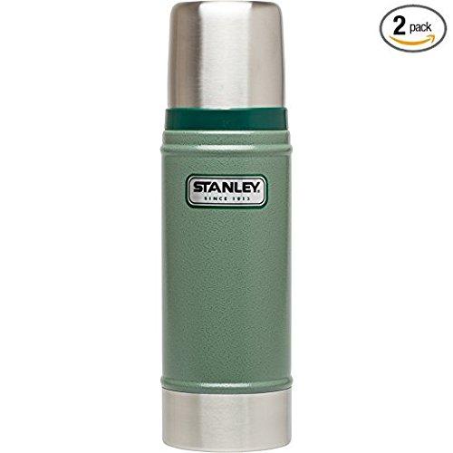 Stanley Classic Vacuum Bottle (Hammertone Green (2 pack), 16oz) (Classic Stanley Bottle Vacuum)