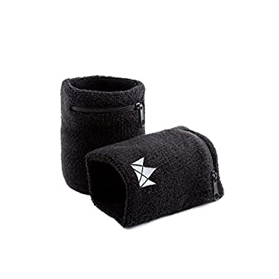 The Friendly Swede Zipper Sweatband with Pocket Wristband Ankle Wallet Pack Estimated Price £9.99 -