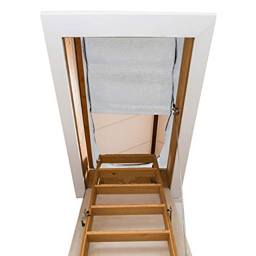 Attic Stairway Insulator - 25'' x 54'' x 11'' - R-Value of 14.5, Fireproof Attic Stairs Insulation Cover