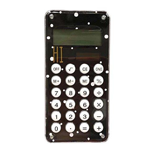 Calculadora de bolsillo de energía solar Mini Slim Credit Card con pantalla grande de 8 dígitos, C