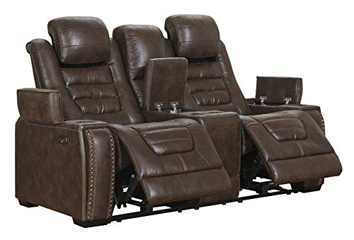 Signature Design bye Ashley Game Zone Love Seats, brown