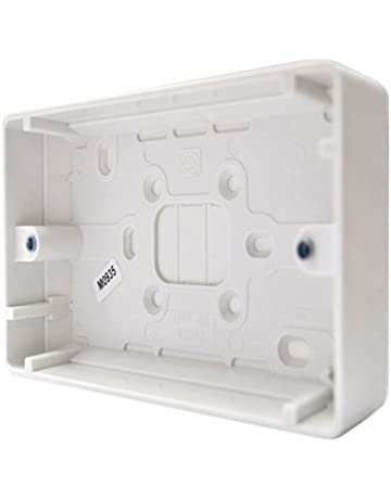 Eagle 2 Gang Surface Socket Box 30mm Pattress Twin Double Socket Wall Mount