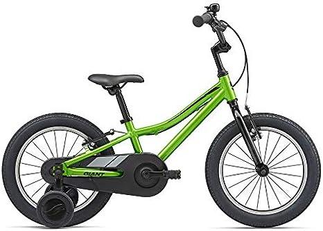 Giant - Bicicleta infantil de 16 pulgadas Animator F/W 16 de aluminio con ruedas para bicicleta, color verde: Amazon.es: Deportes y aire libre