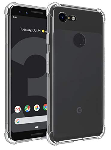 rubber gel crystal clear case for pixel 3(2018)