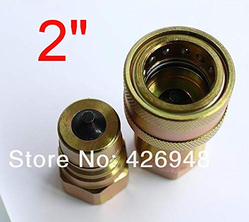 (Ochoos 2'' BSP Port Size Hydraulic Quick Coupler ISO7241A,3000PSI Close Quick Release Coupling,Compatible with Parker 6600 Faster ANV)