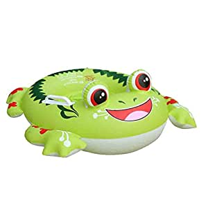 Inflatable Pool Float, Botitu Green Baby Swimming Float Seat with Frog Pattern Spring Float for Kids, Children, Toddlers and Infant Float, Suitable for 1-6 Years Old Baby Pool Toy