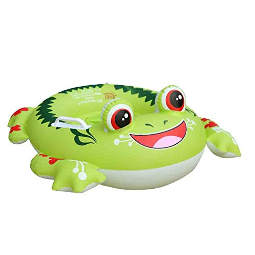 Inflatable Pool Float, Botitu Green Baby Swimming Float Seat with Frog Pattern Spring Float for Kids, Children, Toddlers and Infant Float, Suitable for 1-6 Years Old Baby Pool Toy ()