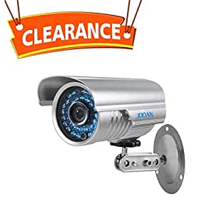 Security Camera, JOOAN 1000TVL CCTV Camera Indoor/Outdoor Waterproof Bullet Surveillance Cameras with 42-IR-LEDs for Night Vision - Video Surveillance Equipment