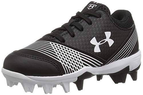 Softball Footwear - Under Armour Girls' Glyde Jr. RM Softball Shoe, Black (011)/White, 9K M US Toddler