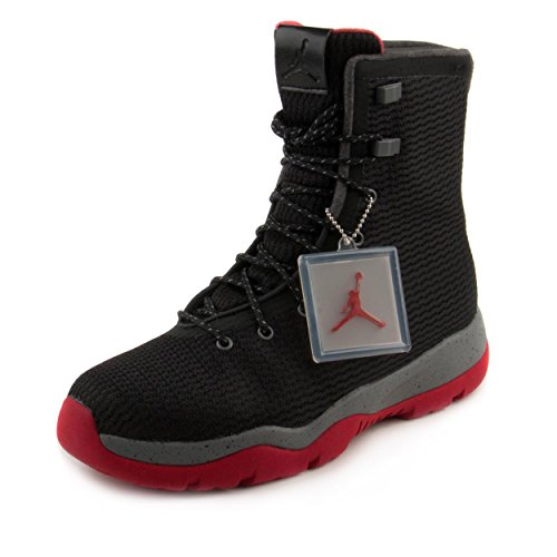 Nike Mens Jordan Future Boot Black/Red-Grey Fabric Size 12 by NIKE