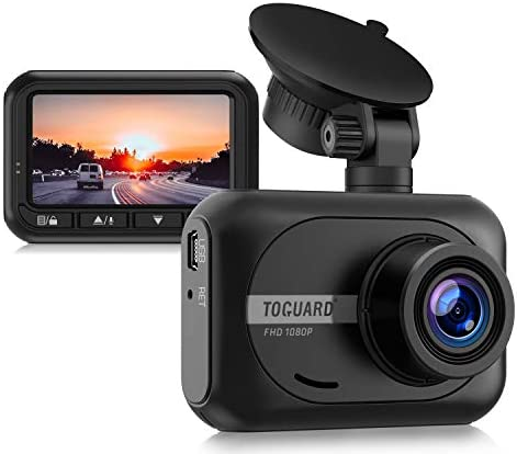 TOGUARD Mini Dash Cam 1080P Full HD Car Camera, 2.45 inch 170 Wide Angle Dash Camera for Cars Driving Recorder with WDR Parking Monitor G-Sensor and Loop Recording