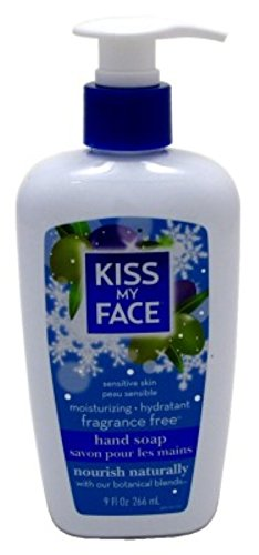 Kiss Vitamins Free Fragrance (Kiss My Face Moisture Liquid Hand Soap, Fragrance Free, 9 oz Pumps (Pack of 6))