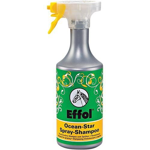 Effol Ocean Star Spray Shampoo 750ml - horse shampoo with practical spray function to make application easier. Cleans deep into pores of the horse's coat without damaging the skin's protective (Effol Horse)
